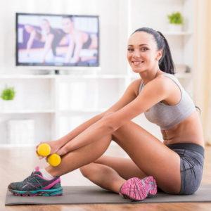 Sedinta de sport la domiciliu prin Clinica de nutritie Dietalia